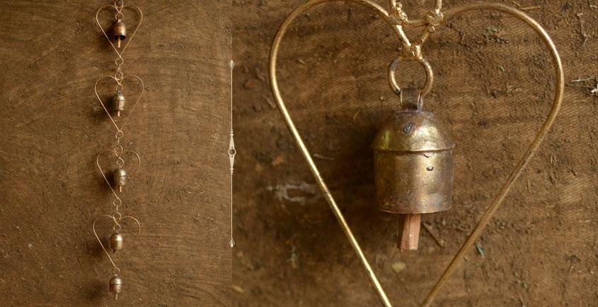 heart shape Kutch metal bell