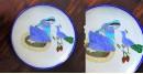 Atasi ⚘ Blue Pottery Queen & Peacock Plate ⚘ B