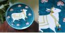 Atasi ⚘ Ocean Cow Blue Pottery Plate ⚘ C