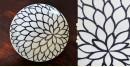 Atasi ⚘ Blue pottery White Floral Plate ⚘ E