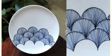 Atasi ⚘ Blue pottery White Wing Plate ⚘ F