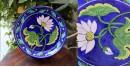 Atasi ⚘ Blue Pottery Blue Lotus Floral Plate ⚘ H