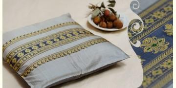 सौमनस | Saumanas ☘ Baluchari Cushion { D } { 16 X 16 inch }
