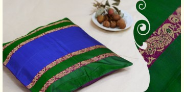 सौमनस | Saumanas ☘ Baluchari Cushion { E } { 16 X 16 inch }