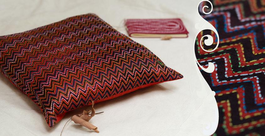 Kantha Cushion Cover - J (16 X 16 inch)