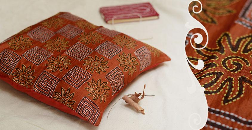 Kantha Cushion Cover - L (16 X 16 inch)