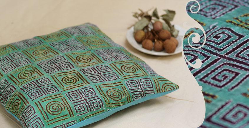 Kantha Cushion Cover - C (16 X 16 inch)