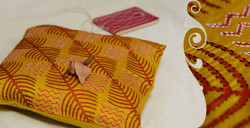Kantha Cushion Cover - F (16 X 16 inch)