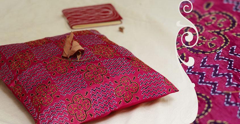 Kantha Cushion Cover - G (16 X 16 inch)