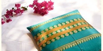 सौमनस | Saumanas ☘ Baluchari Cushion { 4 }  { 16 X 16 inch }
