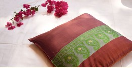 सौमनस | Saumanas ☘ Baluchari Cushion { 14 }  { 16 X 16 inch }