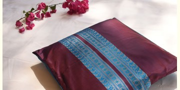 सौमनस | Saumanas ☘ Baluchari Cushion { 15 }  { 16 X 16 inch }