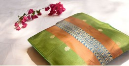 सौमनस | Saumanas ☘ Baluchari Cushion { 16 }  { 16 X 16 inch }