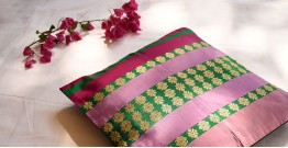 सौमनस | Saumanas ☘ Baluchari Cushion { 17 }  { 16 X 16 inch }
