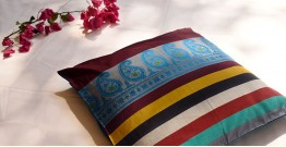सौमनस | Saumanas ☘ Baluchari Cushion { 19 }  { 16 X 16 inch }