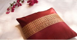 सौमनस | Saumanas ☘ Baluchari Cushion { 21 }  { 16 X 16 inch }