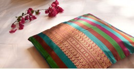 सौमनस | Saumanas ☘ Baluchari Cushion { 22 }  { 16 X 16 inch }
