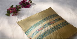 सौमनस | Saumanas ☘ Baluchari Cushion { 26 }  { 16 X 16 inch }