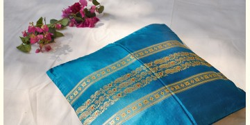 सौमनस | Saumanas ☘ Baluchari Cushion { 27 }  { 16 X 16 inch }