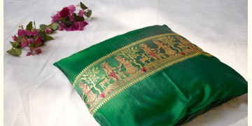 सौमनस | Saumanas ☘ Baluchari Cushion { 28 }  { 16 X 16 inch }