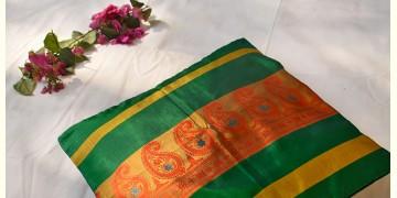 सौमनस | Saumanas ☘ Baluchari Cushion { 36 }  { 16 X 16 inch }