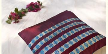 सौमनस | Saumanas ☘ Baluchari Cushion { 38 }  { 16 X 16 inch }