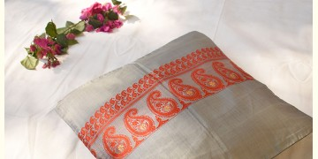 सौमनस | Saumanas ☘ Baluchari Cushion { 40 }  { 16 X 16 inch }