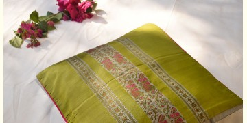 सौमनस | Saumanas ☘ Baluchari Cushion { 41 }  { 16 X 16 inch }