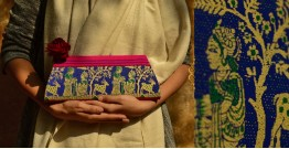 Baluchari Clutch Bag { T }