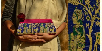 Baluchari Clutch Bag { T }