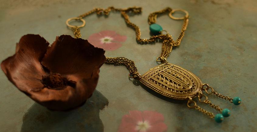 प्रभा ✺ Brass Necklace { 10 }