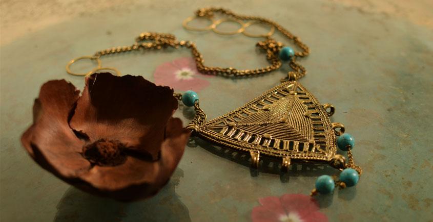 प्रभा ✺ Brass Necklace { 11 }