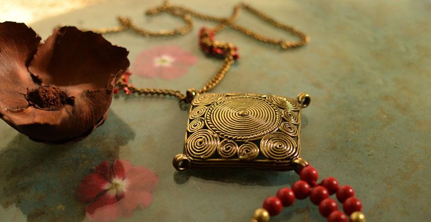 प्रभा ✺ Brass Necklace { 2 }