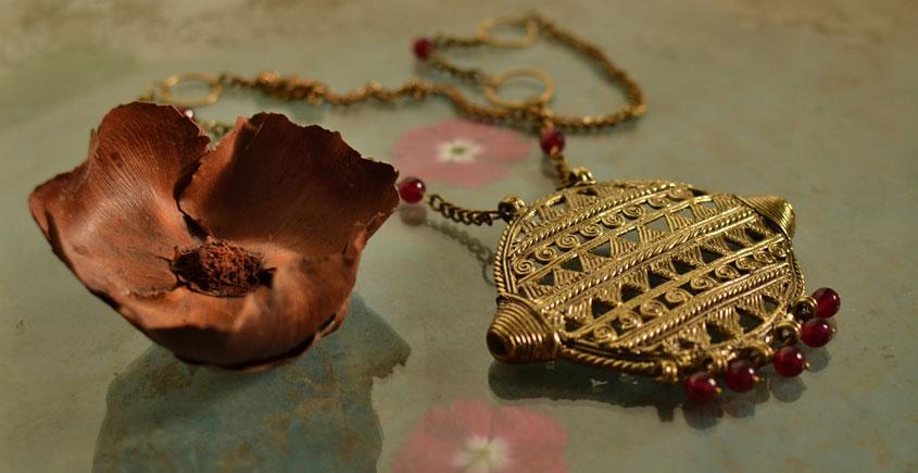 प्रभा ✺ Brass Necklace { 5 }