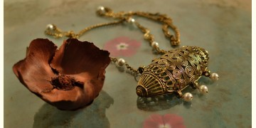 प्रभा ✺ Brass Necklace { 8 }