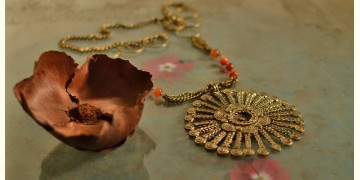 प्रभा ✺ Brass Necklace { 15 }