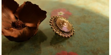 प्रभा ✺ Brass Finger Ring { 18 }