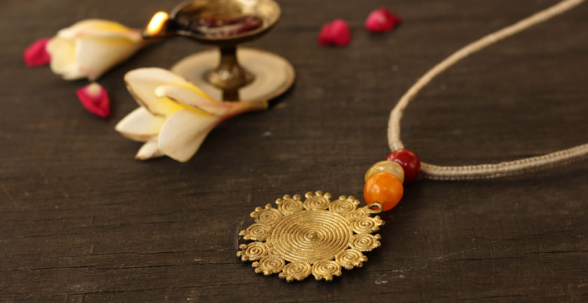 आराधना   Aradhana ✺ Brass Necklace { 1 }