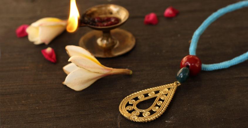 आराधना   Aradhana ✺ Brass Necklace { 2 }