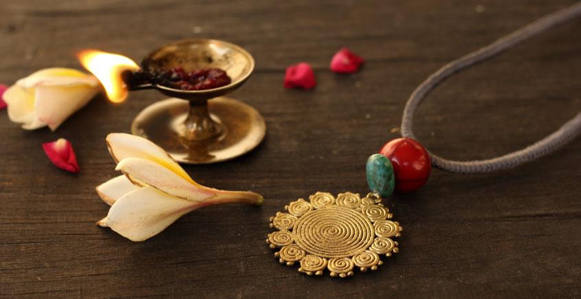 आराधना | Aradhana ✺ Brass Necklace { 6 }