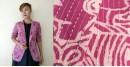 Expressway ❆ Blazer Jacket - Woman Print Kantha (Purple) ~ 11