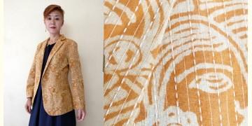 Expressway ❆ Blazer Jacket - Woman Print Kantha (Beige) ~ 20