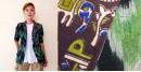 Expressway ❆ Blazer Jacket - Ikat & Print (Black & Green) ~ 21