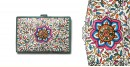 उपवन ~ Leather * Hand Painted { Passport wallet-Pusph Jaal } -3