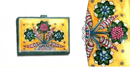 उपवन ~ Leather * Hand Painted { Passport wallet-Mrinal Bahar } - 4