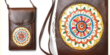 उपवन ~ Leather * Hand Painted { Wallet  Pushp Kendra } - 5