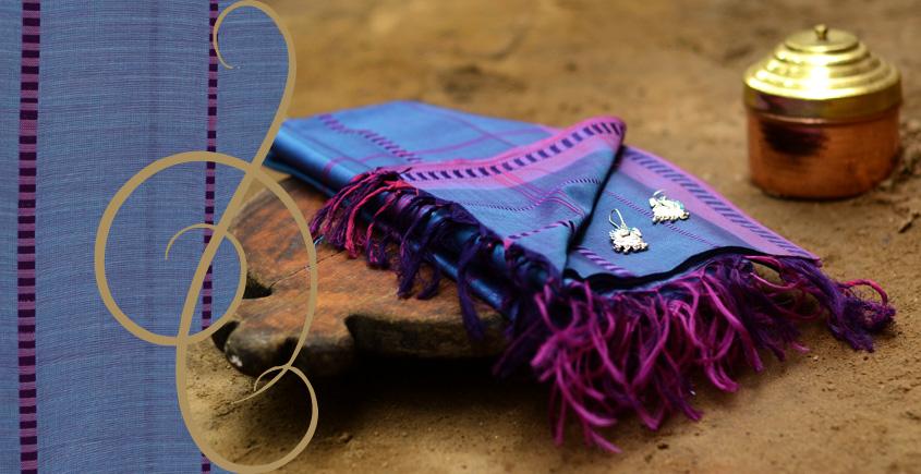Terrain of Flowerbeds ~ Maheshwari Dupatta ( 13 )