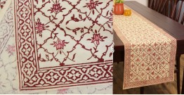 Hand Block Printed . Cotton Table Runner ✥ 32
