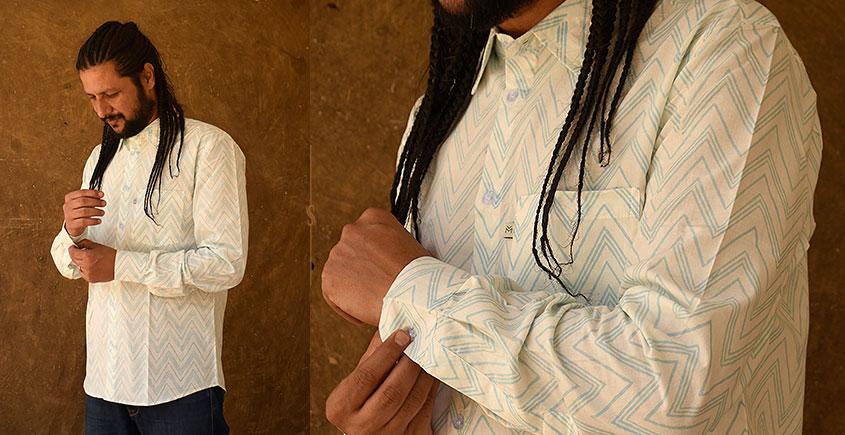 रंगरेज / Rangrez ❂ Block Printed . Fine Cotton Shirt ❂ 1