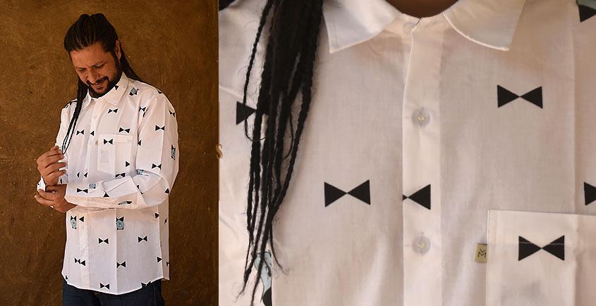रंगरेज / Rangrez ❂ Block Printed . Fine Cotton Shirt ❂ 4